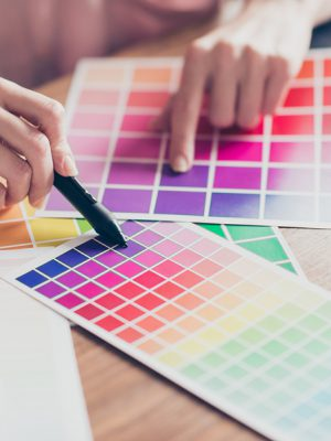 Kleurenpalet om kleurtype te bepalen